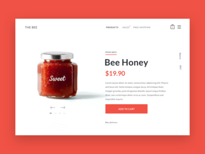 Honey product page