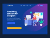 Designer Accounting Landing Dark