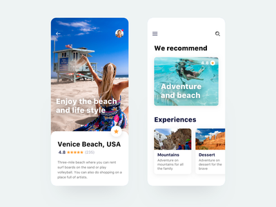 Travel experiences app guide iphone destination tour ux mobile app ui holidays vacations trip stars reviews adventure beach app travel travel app