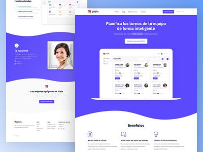 Landing page - SaaS website saas cta help features benefits employees team layout web design ux ui homepage landing