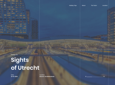 Sights of Utrecht sketch dribble sightseeing ux ui netherlands thenetherlands location date vacation trip vacation trip website webdesign utrecht sights