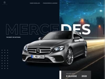 Re-design Mercedes-Benz design dribble shot dribble uiux ui sketch homepage 2020 model webdesign website desktop cars car mercedes-benz