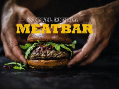 Social Media Meatbar adobe illustrator dribble social network socials socialmedia cafe bar restuarant food hamburger social media design socialmediapost