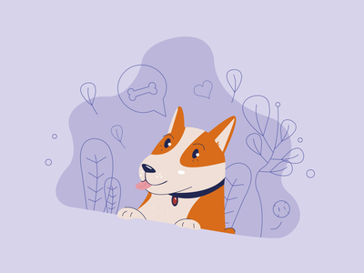 Corgi's are the cutest sketch drawing illustrator talking happy nature illustration dog corgi