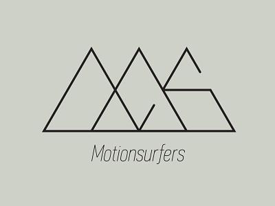 Motionsurfers Logo logo lettering typo id