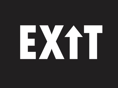 EX🡅T logoinspirations up forfun inspire simple symbol creative pixel design exit identity logo