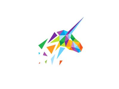 Unicorn unused multiplay colorful design logo unicorn mark debris horse mythology illustration
