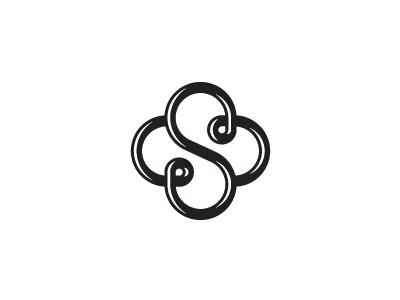 S knot cross monogram mark design logo unused icon s cross knot letter crest