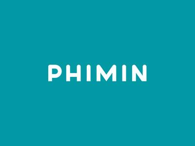 Phimin unused typeface custom font font typography logo lettering design circle geometric type