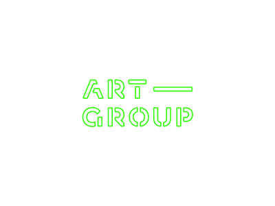 Art - group marketing art type geometric circle design lettering logo typography custom font typeface unused