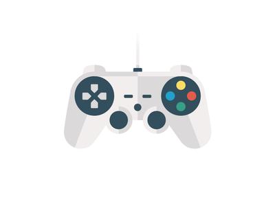Gamepad controller game sony playstation pad flat gamepad vector illustration design