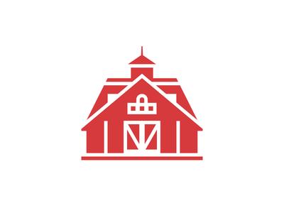 Stable logo design illustration barn farm stable horse house building vector flat