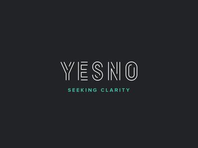 Yesno clarity no yes yesno type design lettering logo typography font custom font typeface