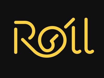 Roll unused roll gap typeface custom font font typography logo lettering design type