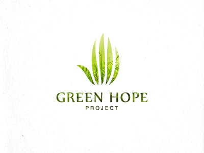 Green hope logo hope hand ecology eco grass green design unused