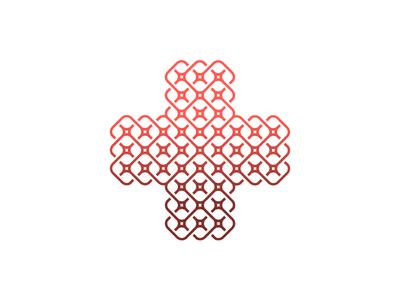 Сross knot knot cross pattern unused logo design mark