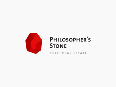 Philosopher's Stone stone crystal harry potter philosopher stone facet house home unused logo design mark