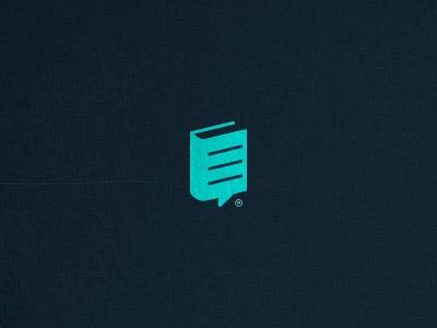 Booktalk book club discussion logo talk bubble design mark unused