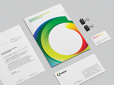 MMSR Identity colorful expansion marketing management motion design logo icon circle moving gradient round