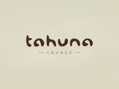 Tahuna unused eat food lounge restaurant bar tahuna calligraphy lettering logo design exotic authentic typography