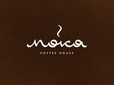 Moka coffee house typography logo design