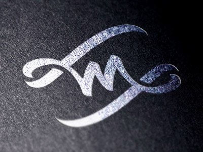 M-W design brush logo calligraphy monogram m w flag