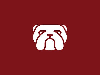 Bulldog unused logo design mark illustration animal dog face head english bulldog