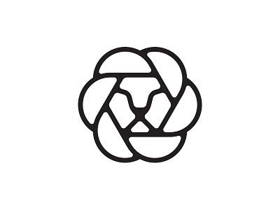 Leo upd head hexagon tiger animal icon face diaphragm leo lion semicircle logo illustration