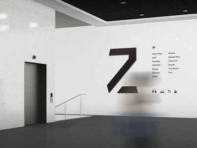 Signage wall design signage navigation shopping center mall icon info arrow sign interior polygon identity