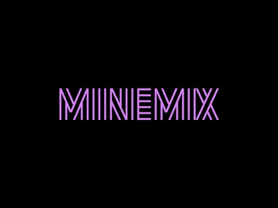 Minemix mixtape song music mix unused custom font typography logo lettering design