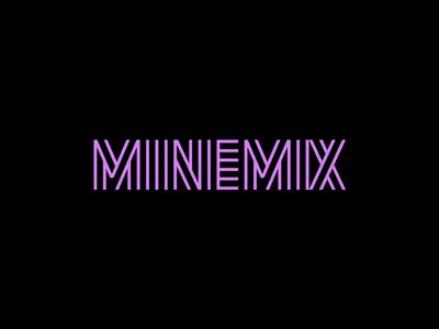 Minemix mixtape song music mix unused custom font typography logo lettering design