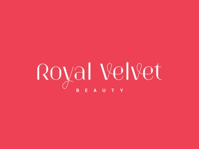 Royal Velvet women salon beauty velvet royal custom font typography logo lettering design