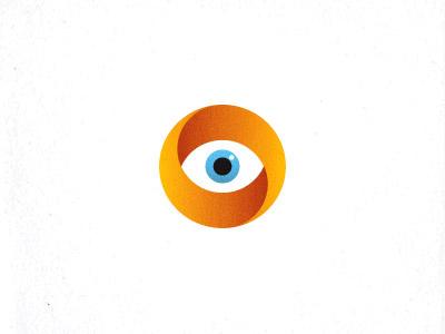 Eye mark design logo people eye gradient banded round motion moving dynamics escher circular circle
