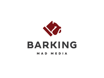 Barking bulldog english head face dog animal illustration mark design logo unused