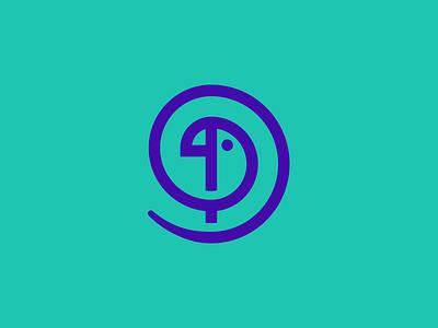 Parrot mark animal parrot bird branding round icon mark unused logo design