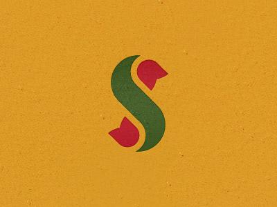 S tulip mark design logo flower s letter tulip unused