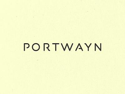 Portwayn unused design lettering logo typography font custom font typeface type