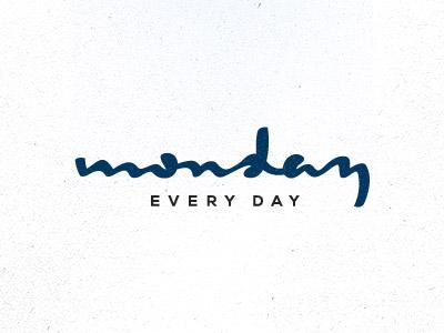 Monday unused authentic exotic design logo lettering calligraphy monday