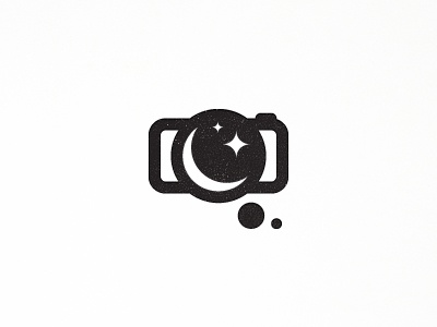 Dream photo mark design logo icon bubble community unused talk photography photo dream moon star foto cloud camera lens objective ambition vision