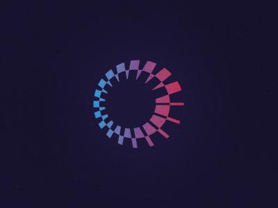 Gostest circular advance motion mark design logo icon unused circle line process progress analysis test testing loading operation scan dynamics moving gradient