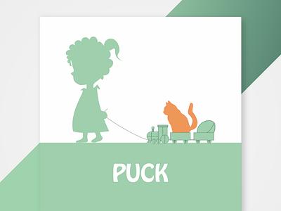 Birth announcement For Puck digital card design card silhouette birth announcement design sketch illustrator