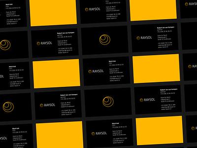 Raysol - business cards solar energy card design logo branding design sketch