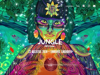 Jungle Festival  2020   Website js sass html5 canvas jungle festival front-end development front-end front-end design