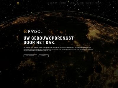 Raysol.nl    video header workinprogress vanilla js sass html5 lightanddark blackandwhite solar system raysol planet solar sun vimeo