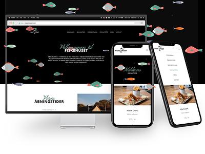 Fiskehus website   Danish Fish house typography front-end illustrator branding love svg js frontend design frontend development responsive design fish svg-fish website