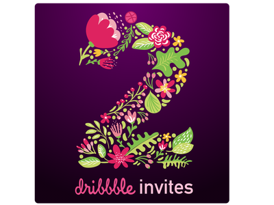 TODAY   2 dribbble invites give away! illustrator