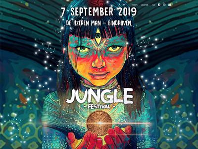 Jungle festival   http://www.junglefestival.nl/ vector panomara design 2019 jungle-festival