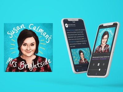 Susan Calman's Mrs Brightside podcast cover artwork