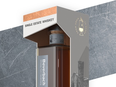 Beverbach Whiskey – Packaging package design box print design hotstamping layout product design 3d rendering dtp illustration adchitects graphic design collage graphics