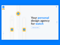 WIP design agency homepage